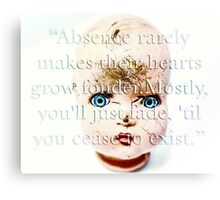 Doll Parts Dressed in Glass Canvas Print