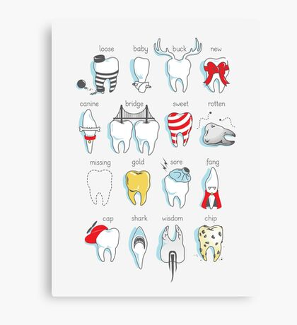 Dental Definitions Canvas Print