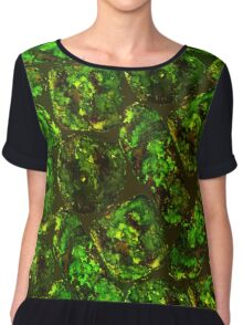 Green moss pattern Chiffon Top