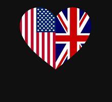America Great Britain Flag Heart Unisex T-Shirt