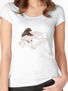Picnic Bear Women's Fitted Scoop T-Shirt
