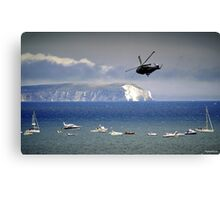 Chopper Over The Needles Canvas Print