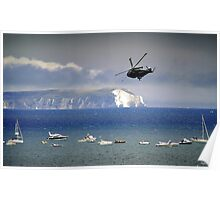 Chopper Over The Needles Poster