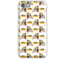 Playful Pug and Food Bowl iPhone Case/Skin