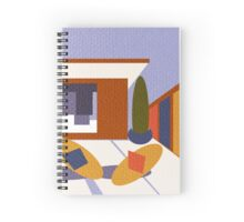 50's Patio textured by Anne Winkler Spiral Notebook