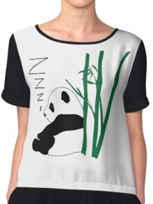 Sleepy Panda ZZZ Chiffon Top