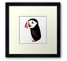 Cute cartoon puffin Framed Print