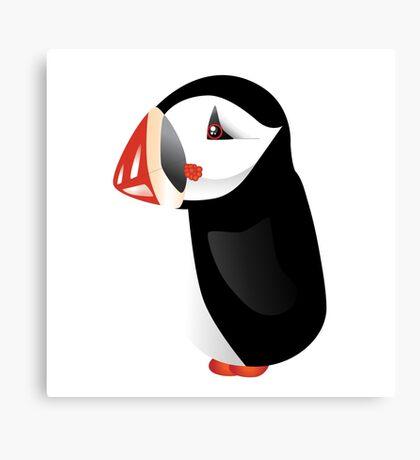 Cute cartoon puffin Canvas Print