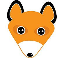 Cute fox face pattern Photographic Print
