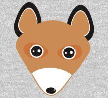 Cute fox face pattern Baby Tee