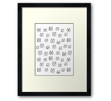 Sketchy cats Framed Print