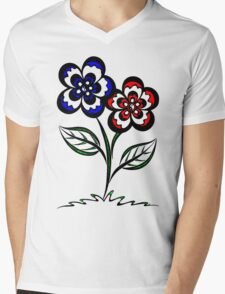 Pairopetals Mens V-Neck T-Shirt