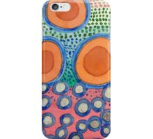 Seven Red Circles Many Brown Dots iPhone Case/Skin
