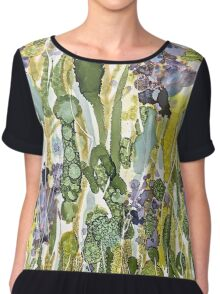 Abstract of a garden of Hydrangea flowers Chiffon Top