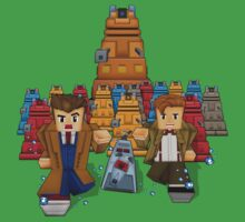 8bit Time traveller vs Robot Droid Dalek One Piece - Short Sleeve