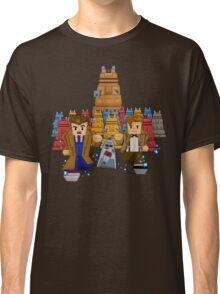8bit Time traveller vs Robot Droid Dalek Classic T-Shirt