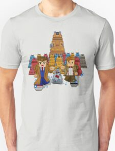 8bit Time traveller vs Robot Droid Dalek Unisex T-Shirt