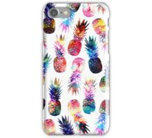 watercolor and nebula pineapples illustration pattern iPhone Case/Skin