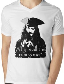 Jack sparrow Mens V-Neck T-Shirt