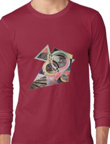 Modern geometric abstract pattern Long Sleeve T-Shirt
