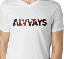 ALVVAYS Mens V-Neck T-Shirt