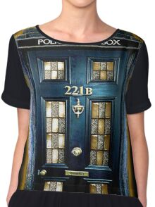 Police Blue Box The Doctor Chiffon Top