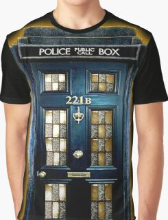 Police Blue Box The Doctor Graphic T-Shirt