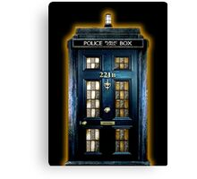 Police Blue Box The Doctor Canvas Print