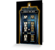 Police Blue Box The Doctor Greeting Card