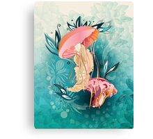 Jellyfish tangling Canvas Print