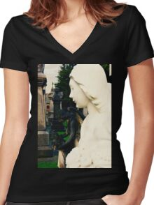 Angel of Purity Women's Fitted V-Neck T-Shirt
