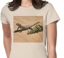 Interacting with wildlife - African Striped Skink Womens Fitted T-Shirt