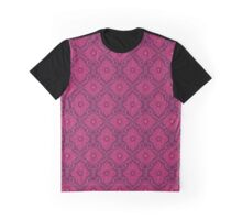 """""""Ruby flowers"""" floral arabesque pattern Graphic T-Shirt"""