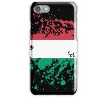 Hungary Flag Ink Splatter iPhone Case/Skin