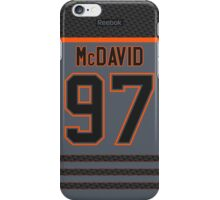 Edmonton Oilers Connor McDavid Storm Cross Check Jersey Back Phone Case iPhone Case/Skin