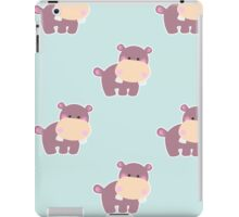 Pattern with a cute baby hippo iPad Case/Skin