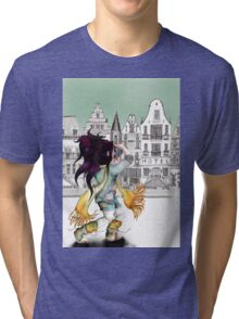 Viola is enjoying beautiful places in the city... Tri-blend T-Shirt