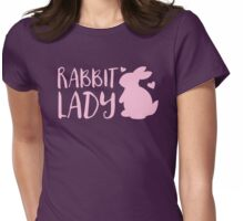 RABBIT LADY bunny's heart Womens Fitted T-Shirt