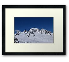 Mount Cook, New Zealand, Aerial Photo Framed Print