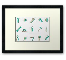 Real tools for man... Framed Print