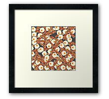 Bacon and Eggs Pattern Framed Print