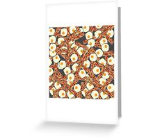 Bacon and Eggs Pattern Greeting Card