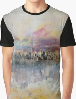 Creamy Sky and Earth, Pastel Encaustic Landscape Graphic T-Shirt
