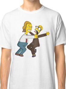 Bottom - Rik Mayall & Ade Edmondson - Simpsons Style Classic T-Shirt