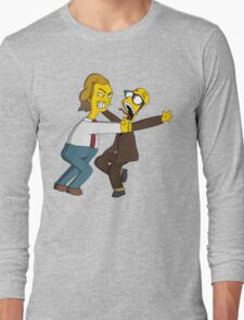 Bottom - Rik Mayall & Ade Edmondson - Simpsons Style Long Sleeve T-Shirt