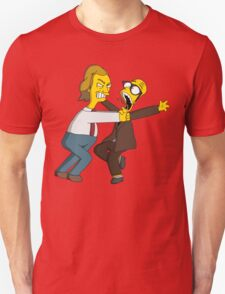 Bottom - Rik Mayall & Ade Edmondson - Simpsons Style Unisex T-Shirt