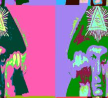 Aleister Crowley Pop Art Sticker