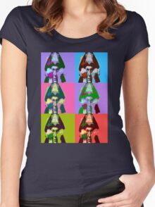 Aleister Crowley Pop Art Women's Fitted Scoop T-Shirt