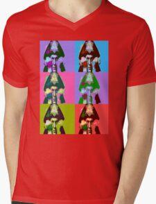 Aleister Crowley Pop Art Mens V-Neck T-Shirt