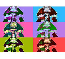 Aleister Crowley Pop Art Photographic Print